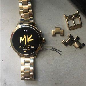 Gold Michael Kors smart watch